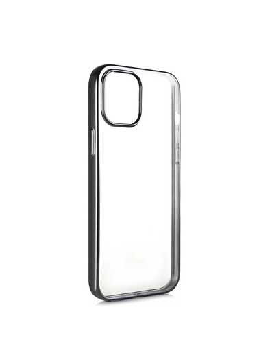 Benks Apple iPhone 12 Magic Glitz Ultra-Thin Transparent Protective Soft Case Siyah
